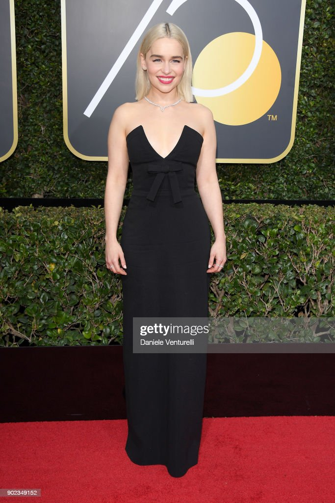 Actor Emilia Clarke attends The 75th Annual Golden Globe Awards at The Beverly Hilton Hotel on January 7, 2018 in Beverly Hills, California.