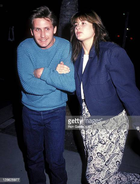 Actor Emilio Estevez and actress Demi Moore attend the 'Mask' West Hollywood Premiere on March 5 1985 at the DGA Theatre in West Hollywood California
