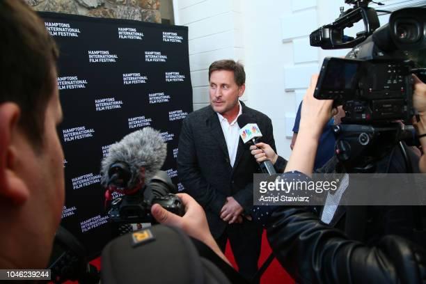 Actor Emilio Estevez arrives at the red carpet for 'The Public' at UA East Hampton Cinema 6 during Hamptons International Film Festival 2018 Day Two...