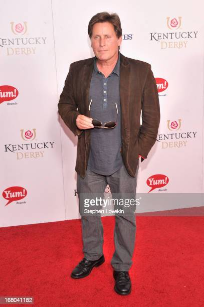 Actor Emilio Estevez attends the 139th Kentucky Derby at Churchill Downs on May 4 2013 in Louisville Kentucky
