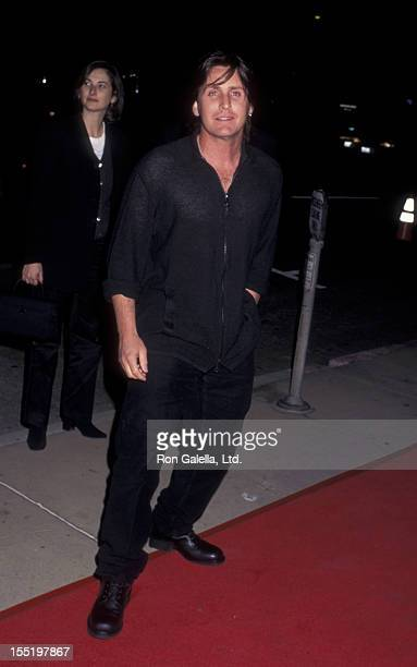Actor Emilio Estevez attends the premiere of From Dusk Till Dawn on January 17 1996 at the Cinerama Dome Theater in Hollywood California