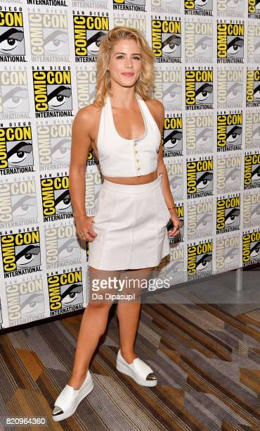 Actor Emily Bett Rickards at the Arrow Press Line during ComicCon International 2017 at Hilton Bayfront on July 22 2017 in San Diego California