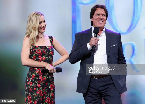 Actor Emily Blunt and director Rob Marshall of MARY POPPINS RETURNS took part today in the Walt Disney Studios live action presentation at Disney's...