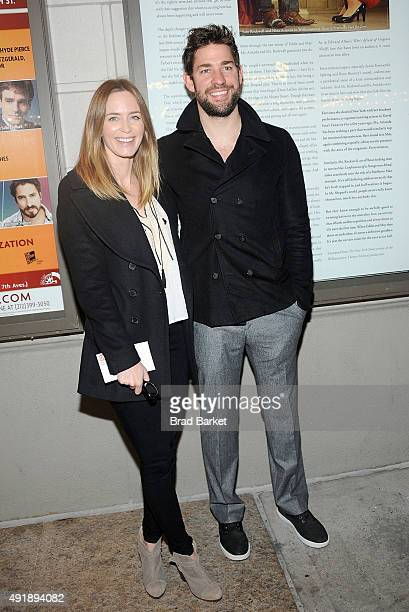 Actor Emily Blunt and John Krasinski attend 'Fool For Love' Broadway Opening Night at Samuel J Friedman Theatre on October 8 2015 in New York City