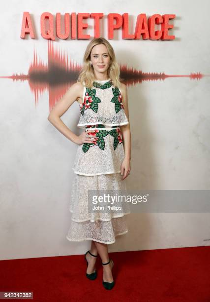 Actor Emily Blunt attends 'A Quiet Place' screening at the Curzon Soho on April 5 2018 in London England