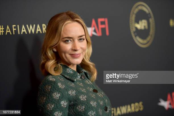 Actor Emily Blunt attends the 19th Annual AFI Awards at Four Seasons Hotel Los Angeles at Beverly Hills on January 4, 2019 in Los Angeles, California.