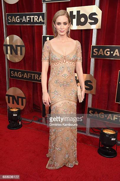 Actor Emily Blunt attends The 23rd Annual Screen Actors Guild Awards at The Shrine Auditorium on January 29 2017 in Los Angeles California 26592_009