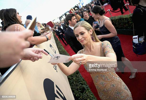 Actor Emily Blunt attends The 23rd Annual Screen Actors Guild Awards at The Shrine Auditorium on January 29 2017 in Los Angeles California 26592_016