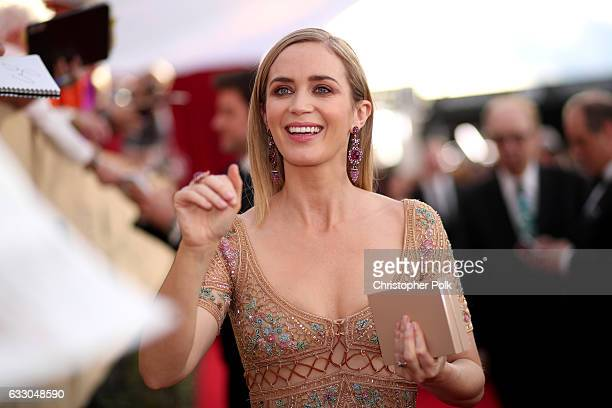 Actor Emily Blunt attends The 23rd Annual Screen Actors Guild Awards at The Shrine Auditorium on January 29 2017 in Los Angeles California 26592_012