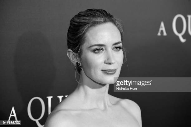 """Actor Emily Blunt attends the Paramount Pictures New York Premiere of """" A Quiet Place"""" at AMC Lincoln Square theater onApril 2, 2018 in New York,..."""