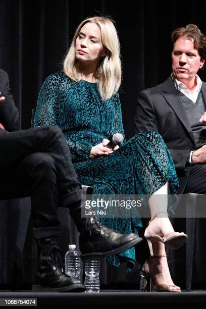 Actor Emily Blunt on stage during The Academy of Motion Pictures Arts and Sciences official Academy screening Of Mary Poppins Returns at the MoMA...