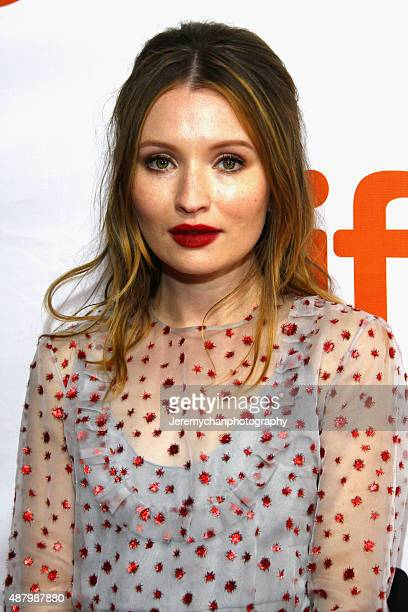 Actor Emily Browning attends the Legend premiere during the 2015 Toronto International Film Festival held at Roy Thomson Hall on September 12 2015 in...
