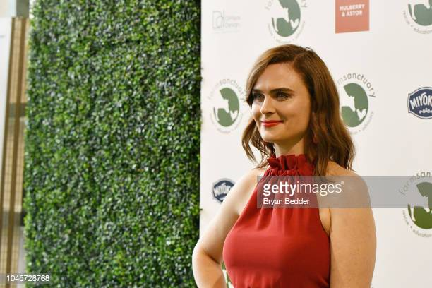 Actor Emily Deschanel attends the 2018 Farm Sanctuary on the Hudson gala at Pier 60 on October 4 2018 in New York City