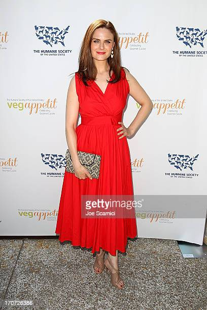 Actor Emily Deschanel attends The Humane Society of the United States' Veg Appetit at Smogshoppe on June 16 2013 in Los Angeles California