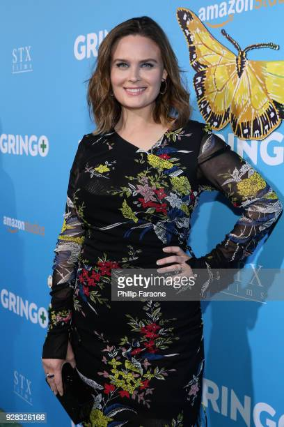Actor Emily Deschanel attends the world premiere of 'Gringo' from Amazon Studios and STX Films at Regal LA Live Stadium 14 on March 6 2018 in Los...