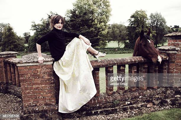 Actor Emily Mortimer is photographed for Marie Claire on October 9 2013 in London England
