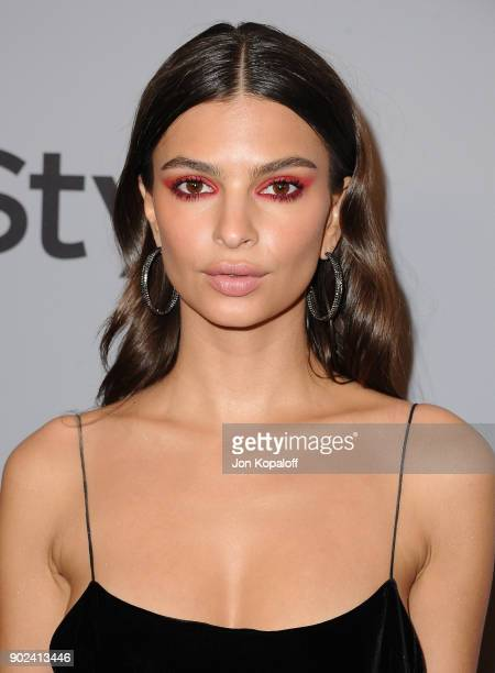 Actor Emily Ratajkowski attends 19th Annual PostGolden Globes Party hosted by Warner Bros Pictures and InStyle at The Beverly Hilton Hotel on January...