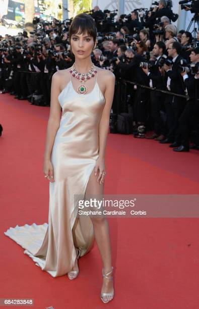 """Actor Emily Ratajkowski attends the """"Ismael's Ghosts """" screening and Opening Gala during the 70th annual Cannes Film Festival at Palais des Festivals..."""