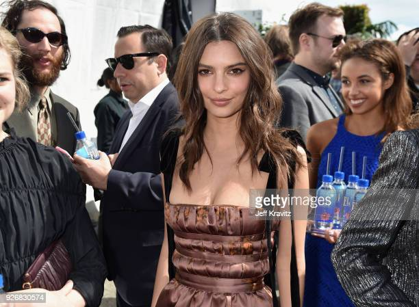 Actor Emily Ratajkowski with FIJI Water during the 33rd Annual Film Independent Spirit Awards on March 3 2018 in Santa Monica California