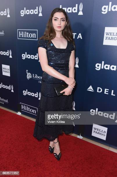 Actor Emily Robinson attends the 28th Annual GLAAD Media Awards in LA at The Beverly Hilton Hotel on April 1 2017 in Beverly Hills California