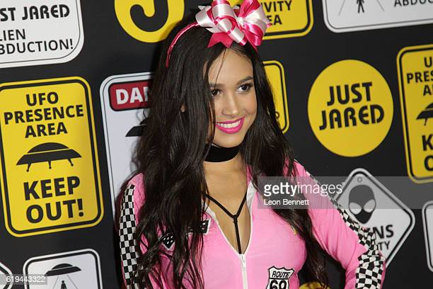 Actor Emily Tosta arrives at the Just Jared's Annual Halloween Party Arrivals at Tenants of the Trees on October 30 2016 in Los Angeles California
