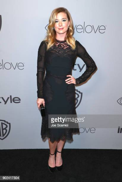 Actor Emily VanCamp attends the 2018 InStyle and Warner Bros 75th Annual Golden Globe Awards PostParty at The Beverly Hilton Hotel on January 7 2018...