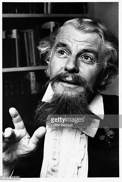 Actor Emlyn Williams as the writer Charles Dickens in Dickens ca 1951