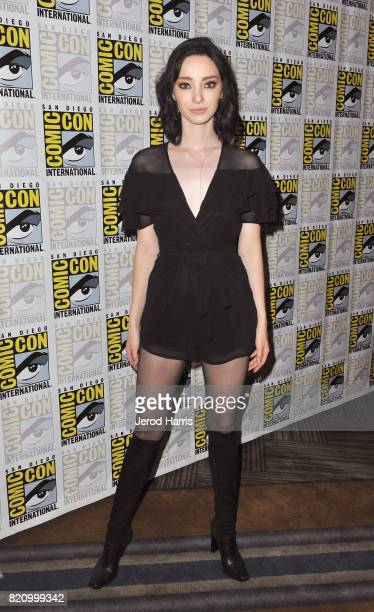 Actor Emma Dumont at 'The Gifted' Press Line during ComicCon International 2017 at Hilton Bayfront on July 22 2017 in San Diego California