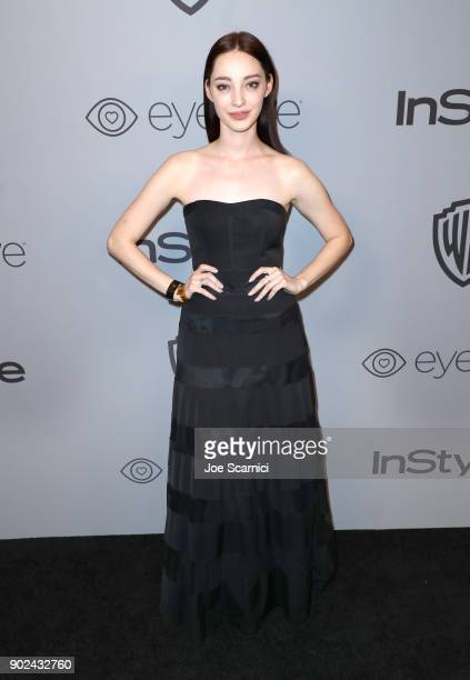 Actor Emma Dumont attends the 2018 InStyle and Warner Bros 75th Annual Golden Globe Awards PostParty at The Beverly Hilton Hotel on January 7 2018 in...