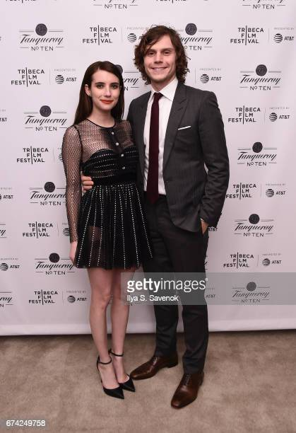 Actor Emma Roberts and Evan Peters attends 2017 Tribeca Film Festival After Party For Dabka Sponsored By Tanqueray at The Edition Hotel on April 27...