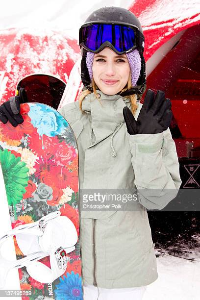 Actor Emma Roberts at the Burton Lounge at Park City Mountain Resort on January 21 2012 in Park City Utah
