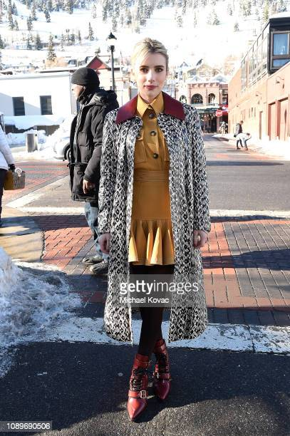 Actor Emma Roberts attends Acura Festival Village at The Sundance Film Festival on January 26 2019 in Park City Utah