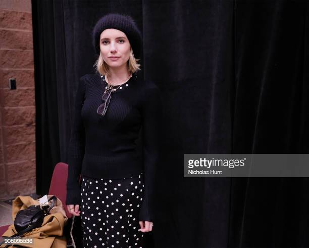 Actor Emma Roberts attends the 'American Animals' Premiere during the 2018 Sundance Film Festival at Eccles Center Theatre on January 19 2018 in Park...