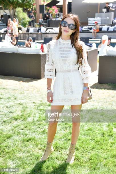 Actor Emma Roberts attends The Hyde Away hosted by Republic Records SBE presented by Hudson and bareMinerals during Coachella on April 15 2017 in...