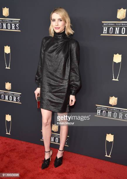 Actor Emma Roberts attends the NFL Honors at University of Minnesota on February 3 2018 in Minneapolis Minnesota