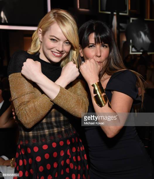 Actor Emma Stone and WriterDirector Patty Jenkins attend American Film Institute's 45th Life Achievement Award Gala Tribute to Diane Keaton at Dolby...