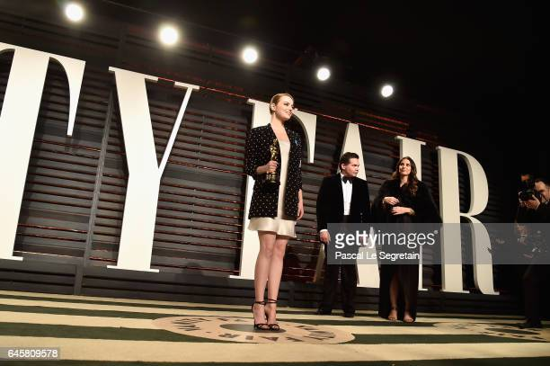 Actor Emma Stone attends the 2017 Vanity Fair Oscar Party hosted by Graydon Carter at Wallis Annenberg Center for the Performing Arts on February 26,...