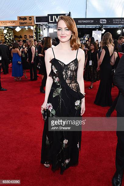 Actor Emma Stone attends The 23rd Annual Screen Actors Guild Awards at The Shrine Auditorium on January 29 2017 in Los Angeles California