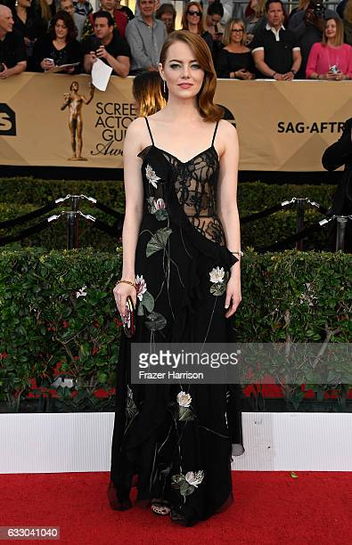 Actor Emma Stone attends The 23rd Annual Screen Actors Guild Awards at The Shrine Auditorium on January 29 2017 in Los Angeles California 26592_008