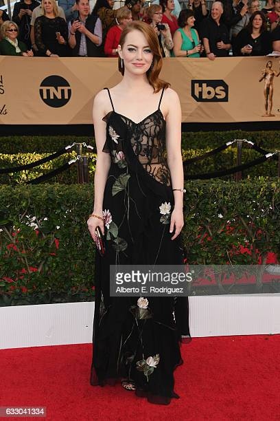 Actor Emma Stone attends the 23rd Annual Screen Actors Guild Awards at The Shrine Expo Hall on January 29 2017 in Los Angeles California