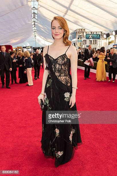 Actor Emma Stone attends The 23rd Annual Screen Actors Guild Awards at The Shrine Auditorium on January 29 2017 in Los Angeles California 26592_012