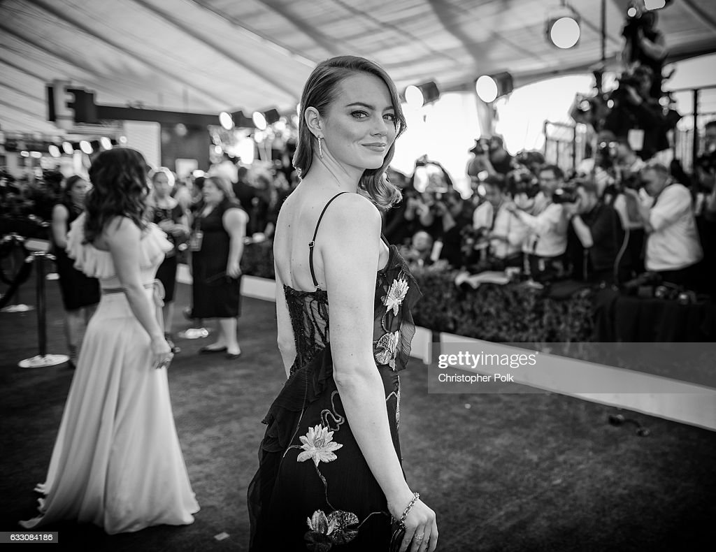 This image has been altered digitally) Actor Emma Stone attends The 23rd Annual Screen Actors Guild Awards at The Shrine Auditorium on January 29, 2017 in Los Angeles, California. 26592_012