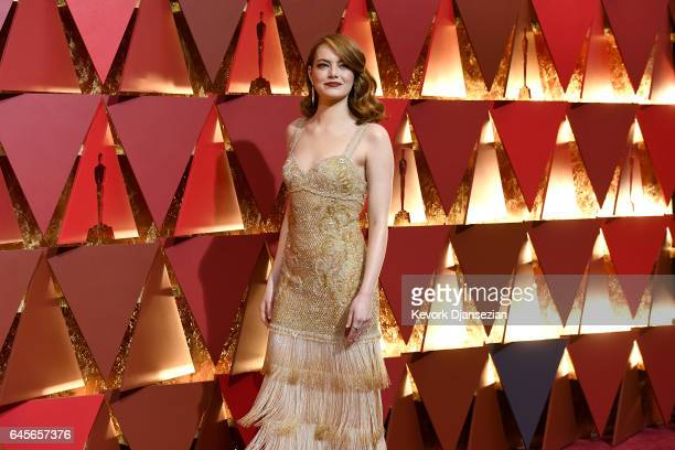 Actor Emma Stone attends the 89th Annual Academy Awards at Hollywood Highland Center on February 26 2017 in Hollywood California