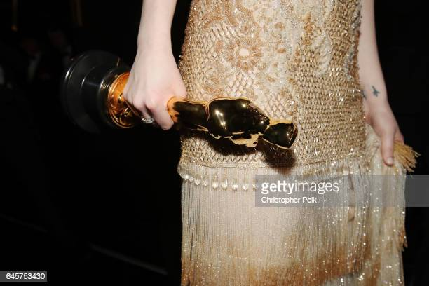 Actor Emma Stone winner of Best Actress for 'La La Land' is seen backstage during the 89th Annual Academy Awards at Hollywood Highland Center on...
