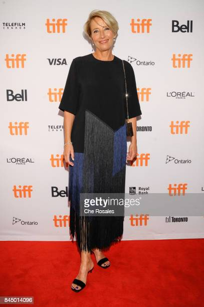 Actor Emma Thompson arrives at The Elgin on September 9 2017 in Toronto Canada