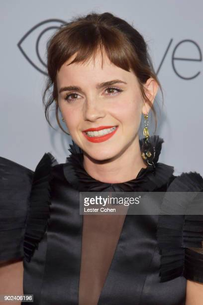 Actor Emma Watson attends 19th Annual PostGolden Globes Party hosted by Warner Bros Pictures and InStyle at The Beverly Hilton Hotel on January 7...