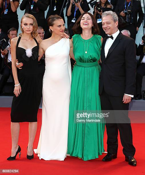 Actor Emmanuel Salinger director Rebecca Zlotowski actresses LilyRose Depp and Natalie Portman attends the premiere of 'Planetarium' during the 73rd...