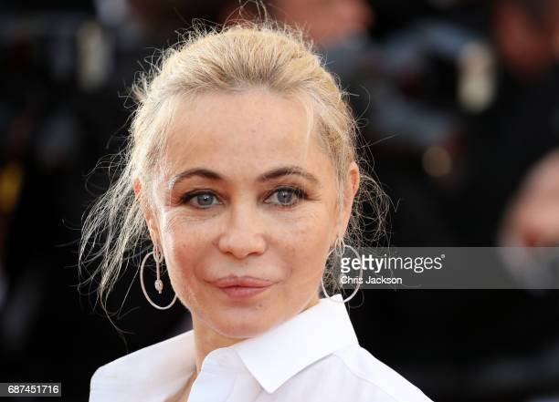 Actor Emmanuelle Beart attends the 70th Anniversary of the 70th annual Cannes Film Festival at Palais des Festivals on May 23 2017 in Cannes France