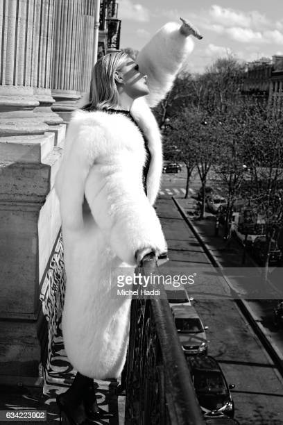 Actor Emmanuelle Seigner is photographed for the Osman Collective magazine on April 3 2016 in Paris France
