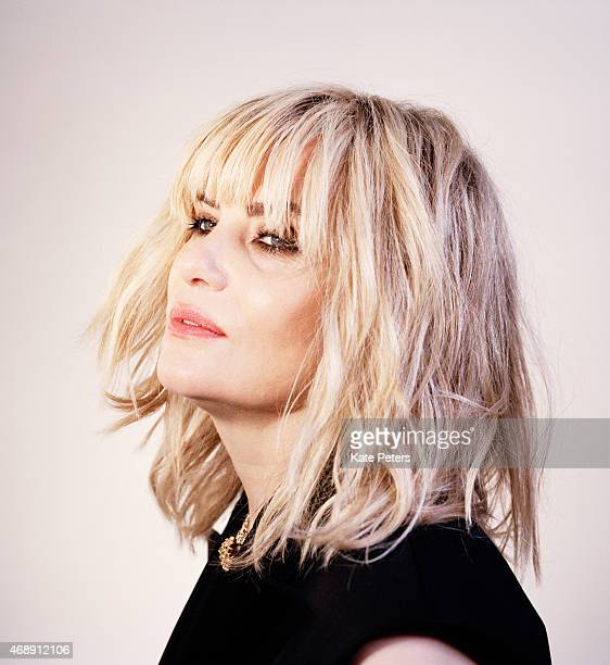 Actor Emmanuelle Seigner is photographed for the Telegraph on May 8 2014 in London England